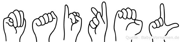 Maikel im Fingeralphabet der Deutschen Gebärdensprache