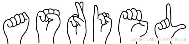 Asriel in Fingersprache für Gehörlose