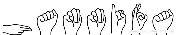Hannifa in Fingersprache für Gehörlose