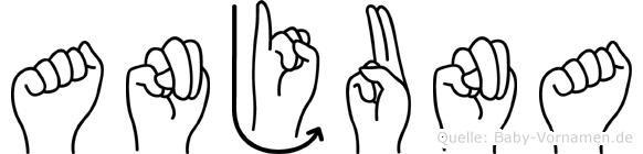 Anjuna in Fingersprache für Gehörlose