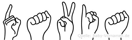 Davia in Fingersprache für Gehörlose