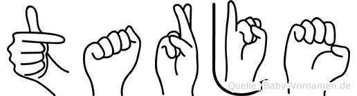 Tarje im Fingeralphabet der Deutschen Gebärdensprache
