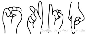 Skip in Fingersprache für Gehörlose