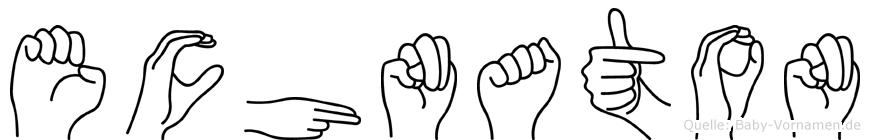 Echnaton im Fingeralphabet der Deutschen Gebärdensprache