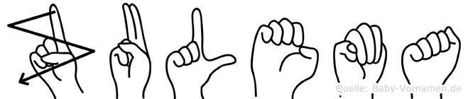 Zulema in Fingersprache für Gehörlose