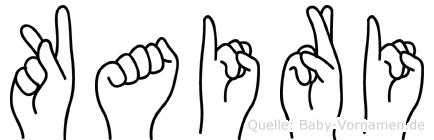 Kairi im Fingeralphabet der Deutschen Gebärdensprache