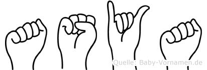 Asya in Fingersprache für Gehörlose