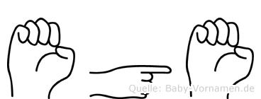 Ege im Fingeralphabet der Deutschen Gebärdensprache