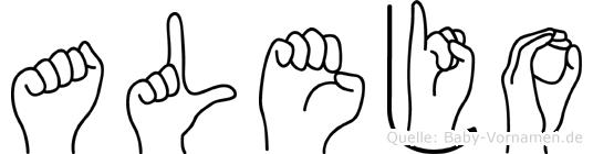 Alejo in Fingersprache für Gehörlose