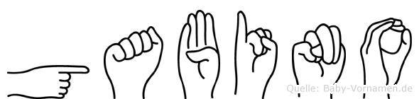 Gabino im Fingeralphabet der Deutschen Gebärdensprache