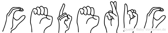 Cederic in Fingersprache für Gehörlose