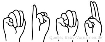 Minu in Fingersprache für Gehörlose
