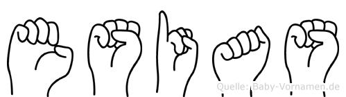 Esias im Fingeralphabet der Deutschen Gebärdensprache