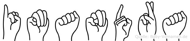 Imandra im Fingeralphabet der Deutschen Gebärdensprache