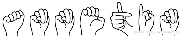 Annetin im Fingeralphabet der Deutschen Gebärdensprache
