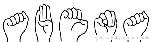 Abena in Fingersprache für Gehörlose