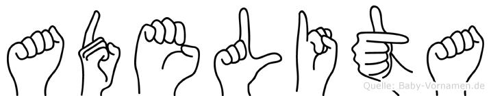 Adelita in Fingersprache für Gehörlose