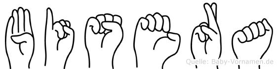 Bisera in Fingersprache für Gehörlose