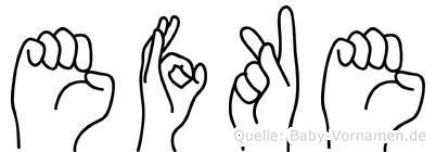 Efke in Fingersprache für Gehörlose