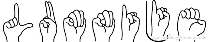 Lumnije in Fingersprache für Gehörlose