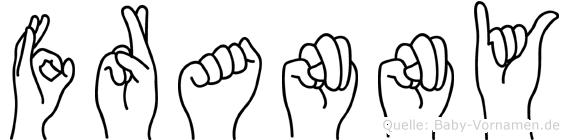 Franny im Fingeralphabet der Deutschen Gebärdensprache