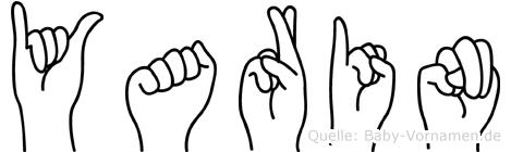Yarin im Fingeralphabet der Deutschen Gebärdensprache