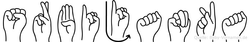 Srbijanka im Fingeralphabet der Deutschen Gebärdensprache