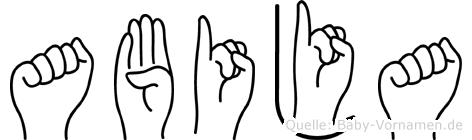 Abija in Fingersprache für Gehörlose
