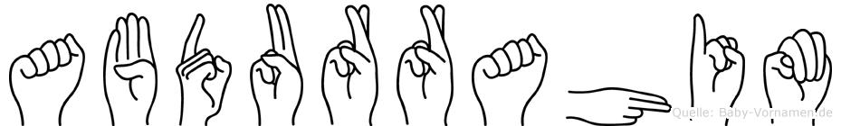 Abdurrahim in Fingersprache für Gehörlose