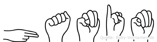 Hanim in Fingersprache für Gehörlose
