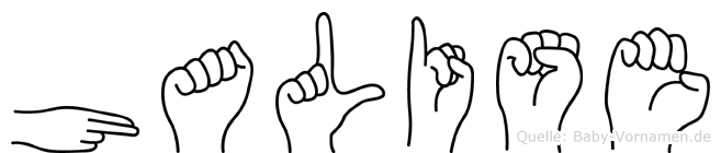 Halise im Fingeralphabet der Deutschen Gebärdensprache