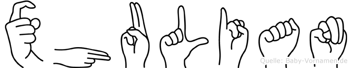 Xhulian in Fingersprache für Gehörlose