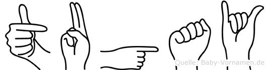 Tugay im Fingeralphabet der Deutschen Gebärdensprache