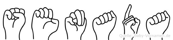 Senada im Fingeralphabet der Deutschen Gebärdensprache