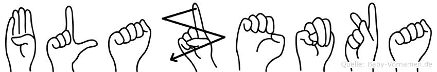 Blazenka in Fingersprache für Gehörlose