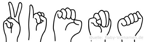Viena in Fingersprache für Gehörlose