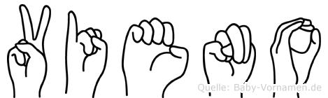 Vieno in Fingersprache für Gehörlose