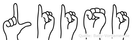 Liisi im Fingeralphabet der Deutschen Gebärdensprache