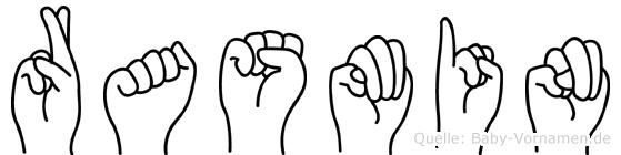 Rasmin im Fingeralphabet der Deutschen Gebärdensprache