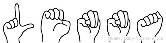 Lenna in Fingersprache für Gehörlose