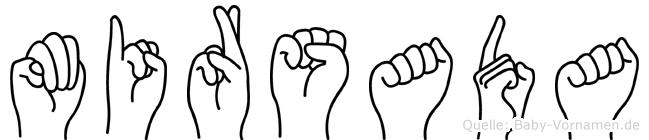 Mirsada im Fingeralphabet der Deutschen Gebärdensprache