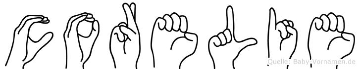 Corelie in Fingersprache für Gehörlose