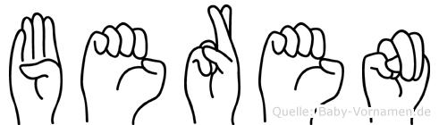 Beren in Fingersprache für Gehörlose