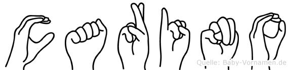 Carino im Fingeralphabet der Deutschen Gebärdensprache