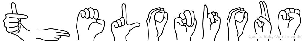 Thelonious im Fingeralphabet der Deutschen Gebärdensprache