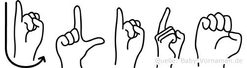 Jülide in Fingersprache für Gehörlose