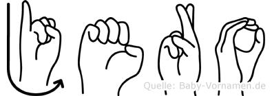 Jero in Fingersprache für Gehörlose