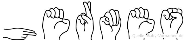 Hermes in Fingersprache für Gehörlose