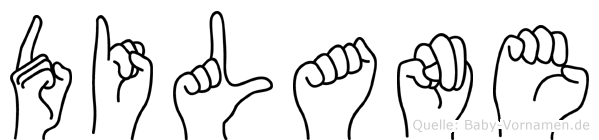 Dilane im Fingeralphabet der Deutschen Gebärdensprache