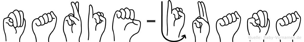 Marie-Juana im Fingeralphabet der Deutschen Gebärdensprache